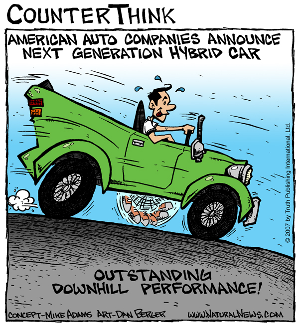 American Hybrid Cars Comic