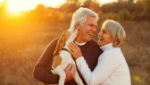 Senior-Couple-Dog-Happy-Laugh-Sunset