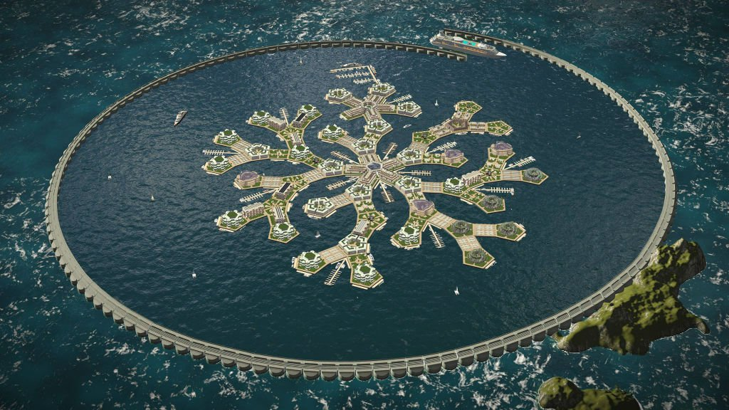 Image: Company reveals ambitious plans to build world's first floating city in the Pacific Ocean