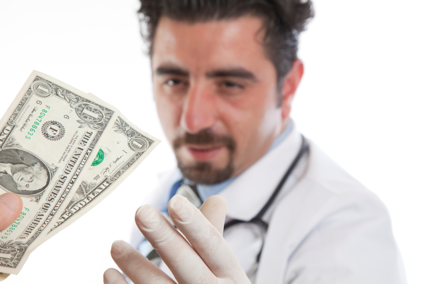 "Image: 65% of doctors are getting cash ""kickbacks"" from big pharma"