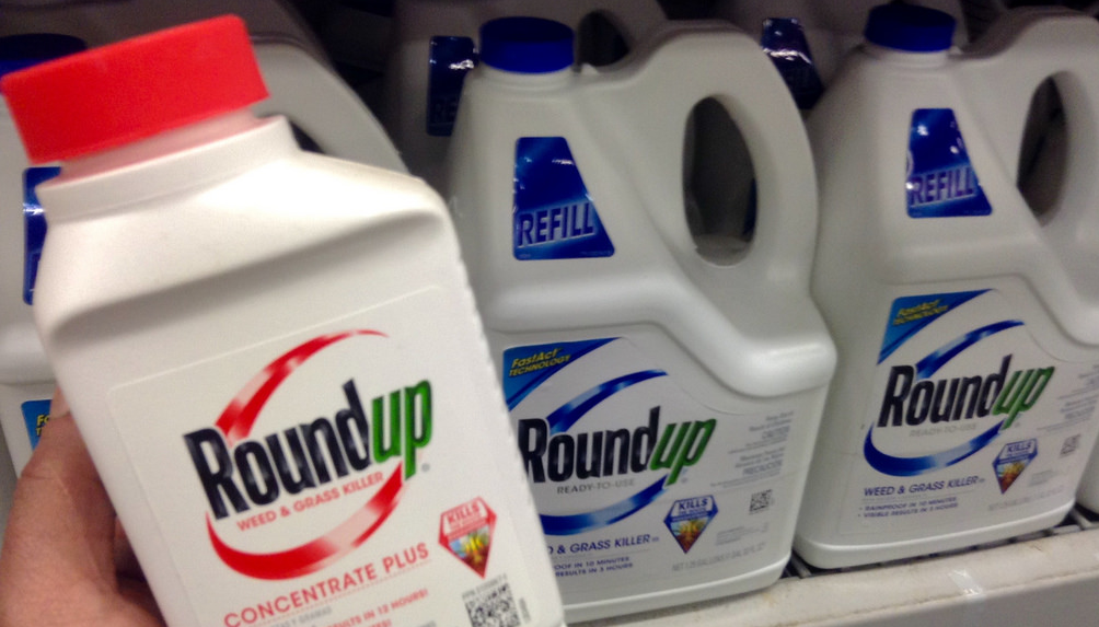 Image: Advertising company faces lawsuits for promoting Monsanto's Roundup (glyphosate) weed killer as safe