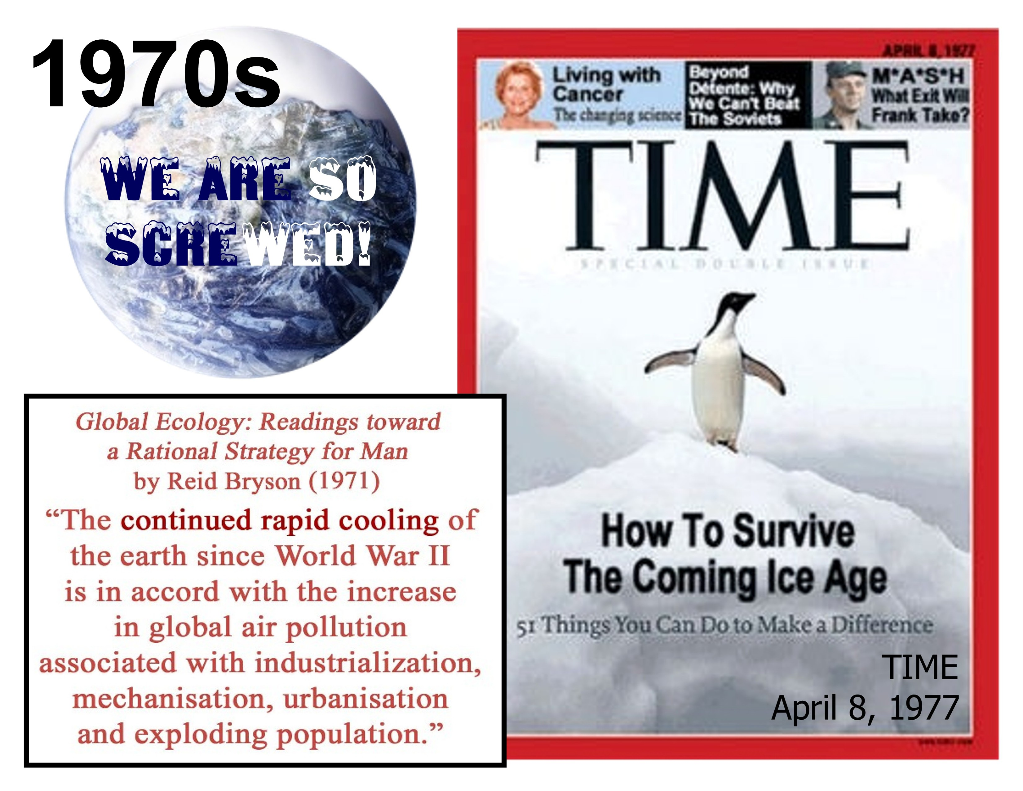 Image: GLOBAL COOLING is coming, and we're all DOOMED, warned NYT, WashPost, TIME, Cal Tech and the entire MSM throughout the 1970s
