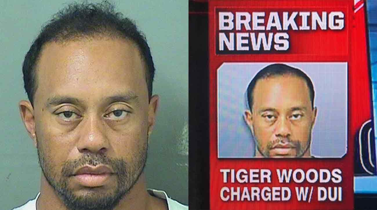 Image: FAKE NEWS: ESPN photoshopped Tiger Woods DUI arrest photo to make him look less ragged and deranged