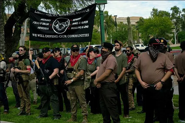 "Image: Beware of ""Redneck Revolt,"" a radical left-wing terrorist organization that's recruiting starry eyed youth to wage war against the government"