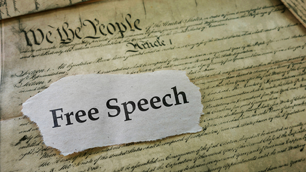 Image: 24 states now pursuing free speech bills to protect conservative speakers from left-wing bullies and liberal authoritarians