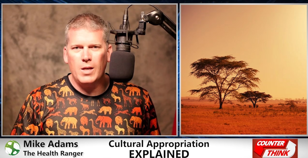 "Image: We are ALL from Africa! Mike Adams publishes ""cultural appropriation edition"" of Counterthink"