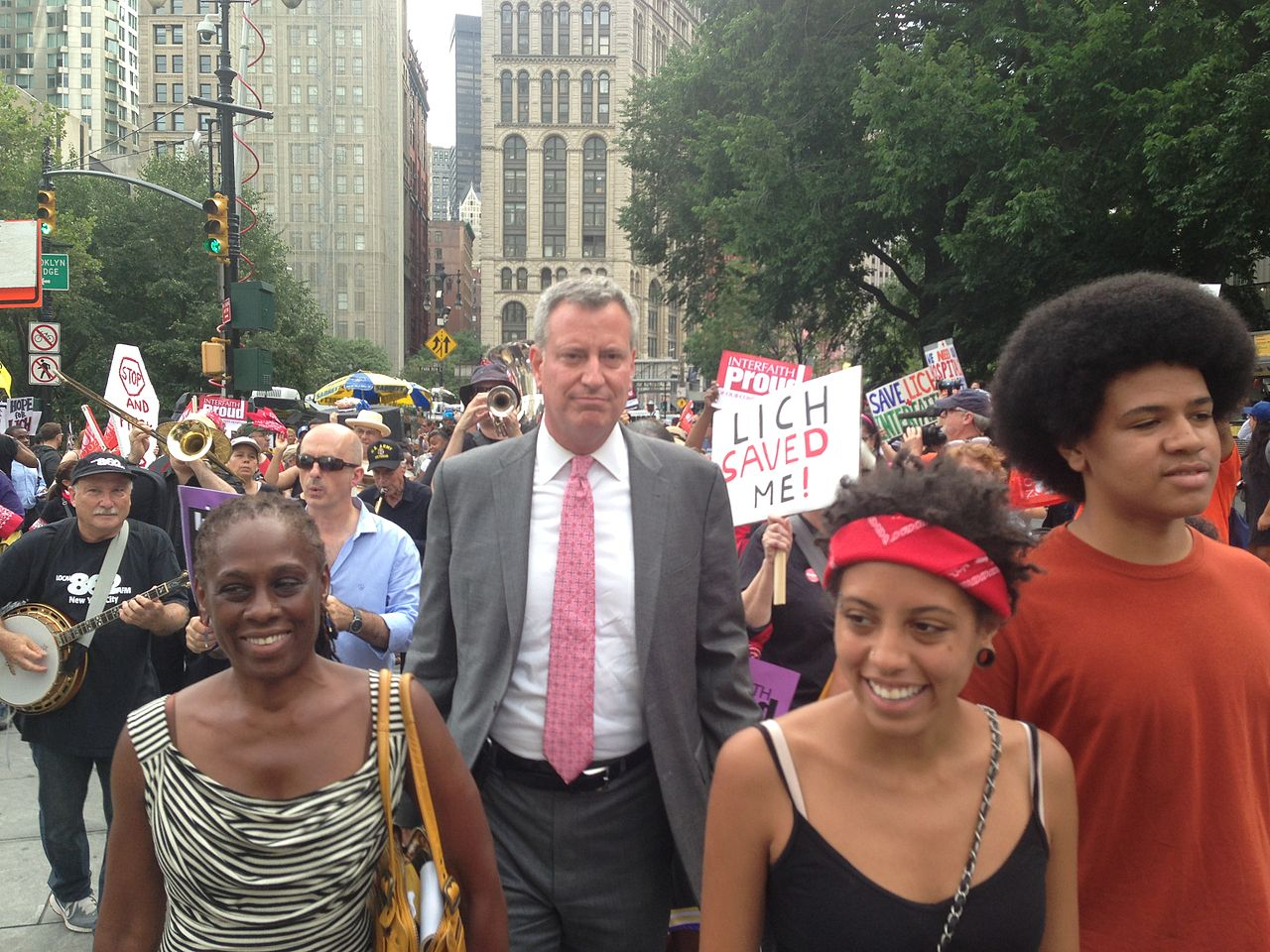 Image: New York's Mayor de Blasio condemned as a bigot for horrific discrimination against Asians and whites entering public schools
