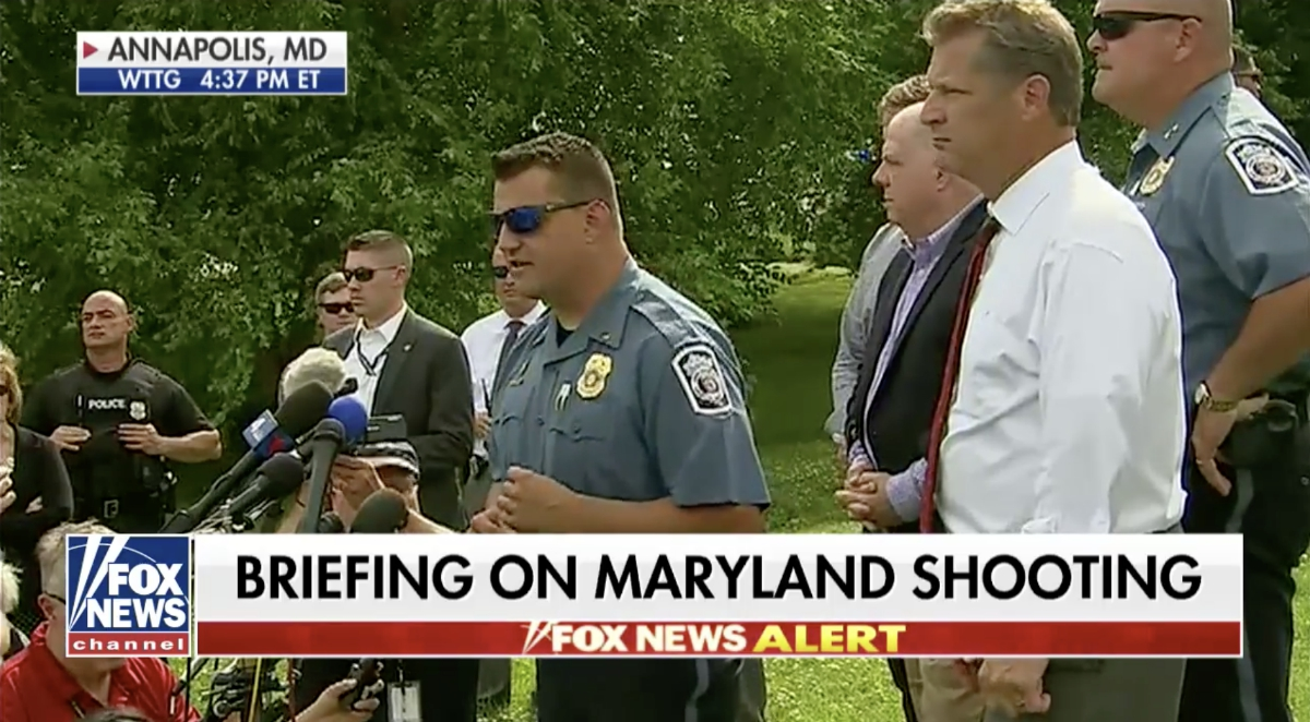 Image: Shooting at Maryland newspaper follows left-wing media's complicity in escalating anger and violence across America