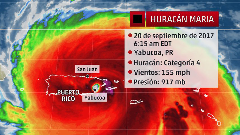 "Image: Puerto Rico DIRECT HIT by Hurricane Maria… interview with Dane Wigington reveals ""weather weaponization"" may be the culprit"