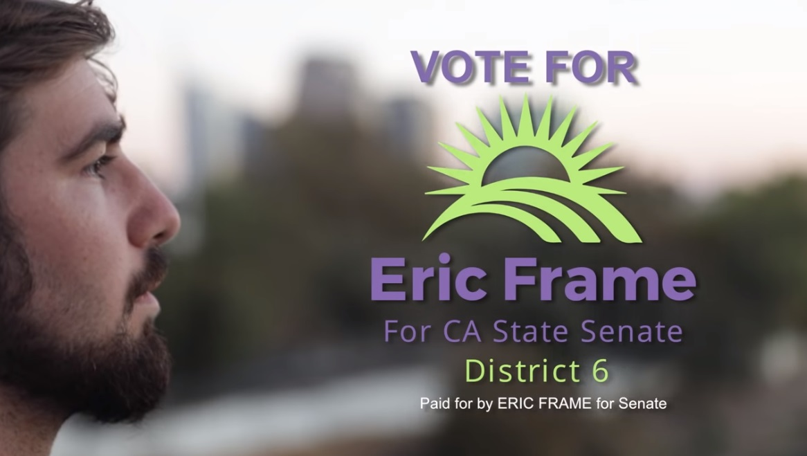 Image: Emergency alert for all California voters: Elect Eric Frame (Independent) as state Senator to defeat vaccine zealot Richard Pan