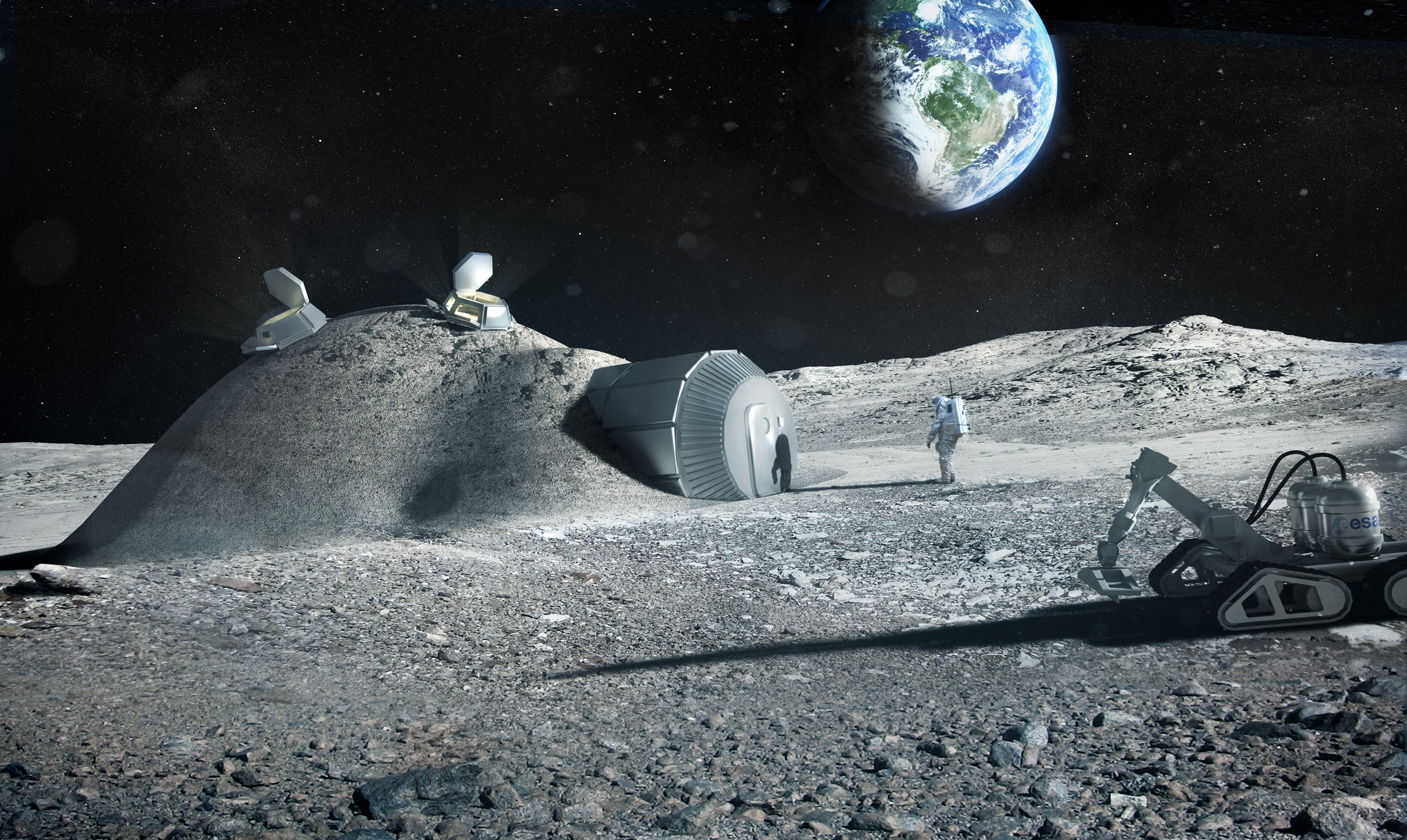 Image: ESA researchers look at lunar dust as a potential raw material for constructing future manned outposts on the moon