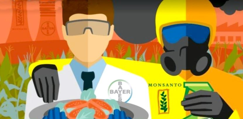 Image: A match made in Hell: Monsanto-Bayer merger gets the green light… farmers are worried, as they should be