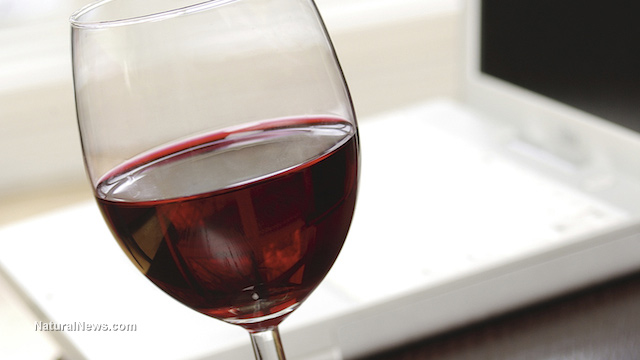 "Image: Drinking red wine causes flurry of ""brain exercise"" as neurons work to analyze the experience"