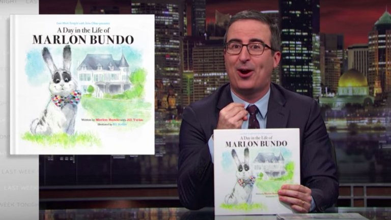 Image: Left-wing hate bigot John Oliver incites liberal mob to attack children's book author