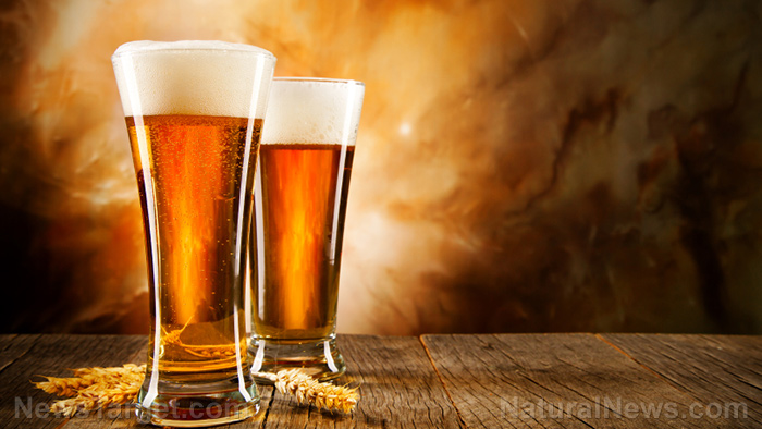 Image: Drink up: Beer is full of dietary silicon that can lower your risk of osteoporosis