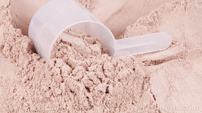 Image: Whey protein helps with muscle weight gain