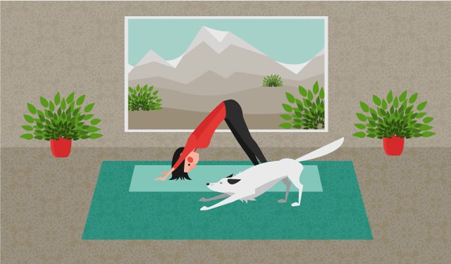 Image: Here's why the downward-facing dog yoga pose is good for your back