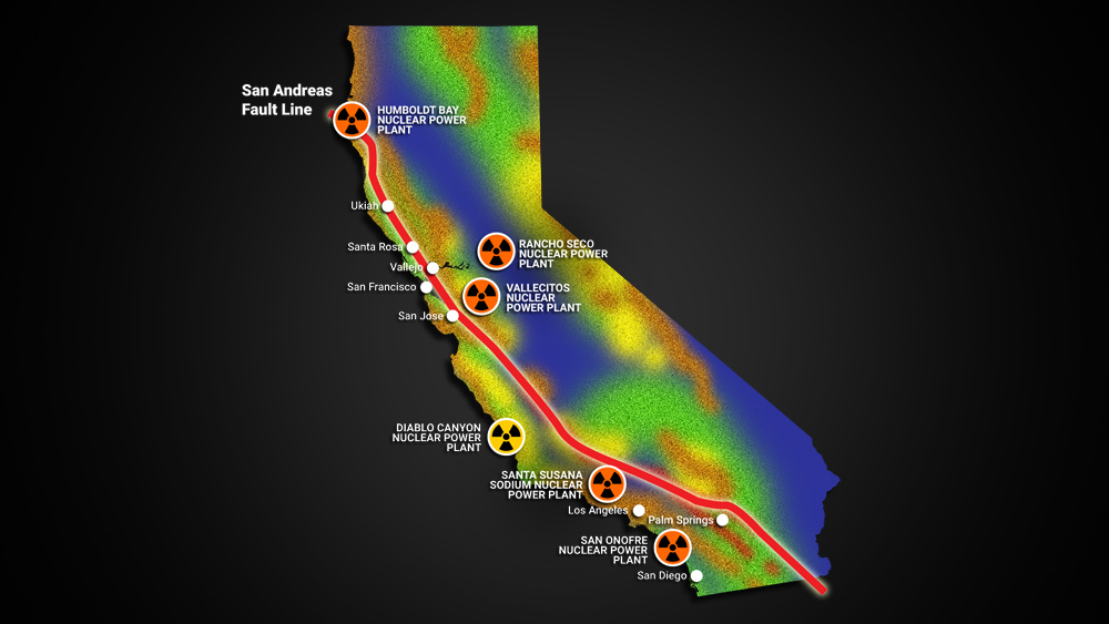 "Image: EXCLUSIVE: California's nuclear power plants built in close proximity to the San Andreas fault, setting up catastrophic ""Fukushima"" event for the West Coast"