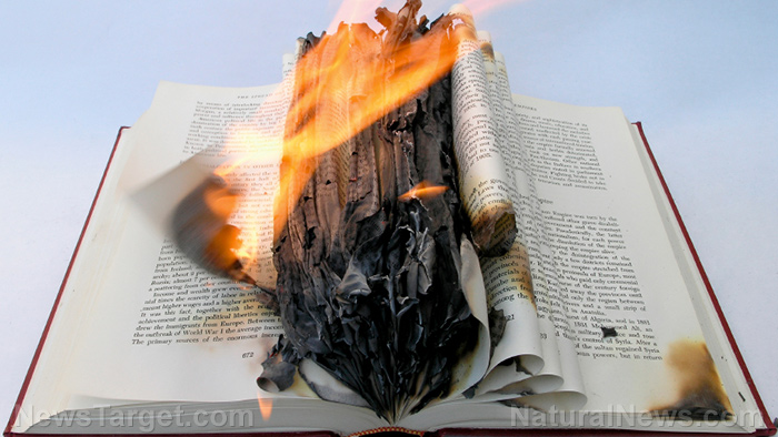 Image: The censorship of alternative media is virtual book burning