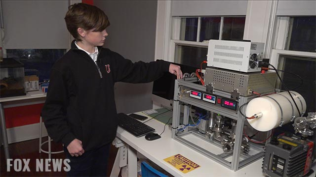 Image: Teenager builds nuclear reactor in his parents' spare bedroom