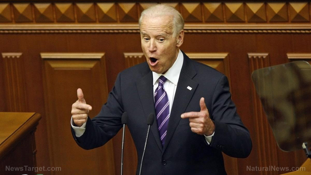 Image: Joe Biden demands media declare total obedience to Democrats and blacklist all dissenting voices