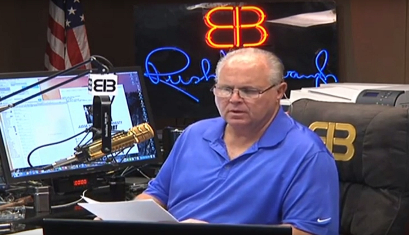 Image: Rush Limbaugh makes obvious point that Wuhan coronavirus might have been a Chinese bioweapon that escaped from the lab