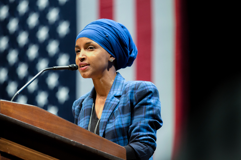 Image: Monumental hypocrite Ilhan Omar blasted pro-life Christians for trying to 'impose their views on society' while imposing her own radical demand for unlimited ABORTION