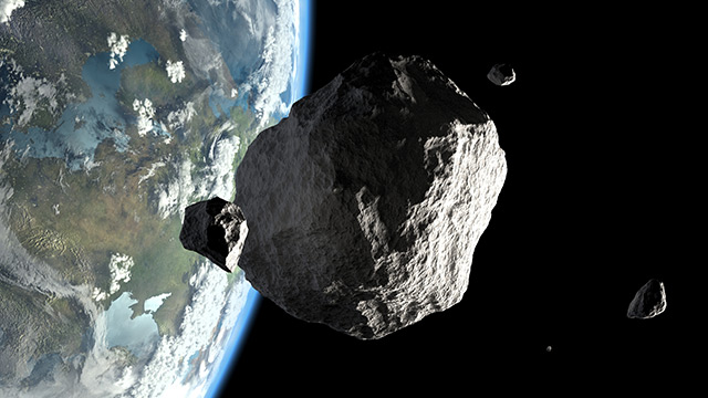 Image: An asteroid the size of two football fields will just barely miss the Earth next week