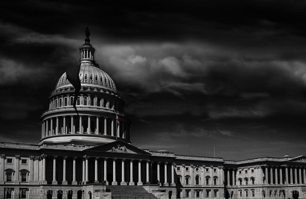 "Image: BREAKING: After the staged ""storming"" false flag event, Congress to RE-CONVENE tonight and finish its final act of betrayal against America, under the cloak of darkness"