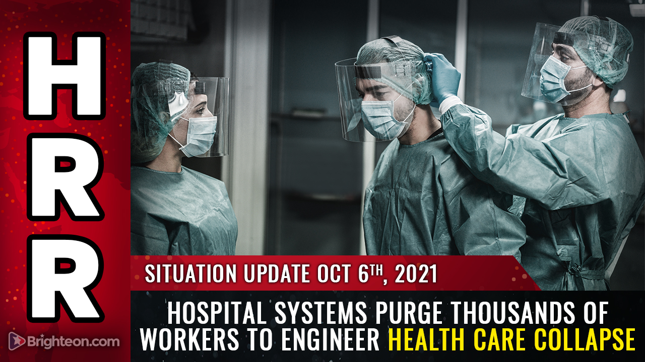 Image: Hospital systems PURGE thousands of workers to engineer health care COLLAPSE just as the Dark Winter die-off accelerates